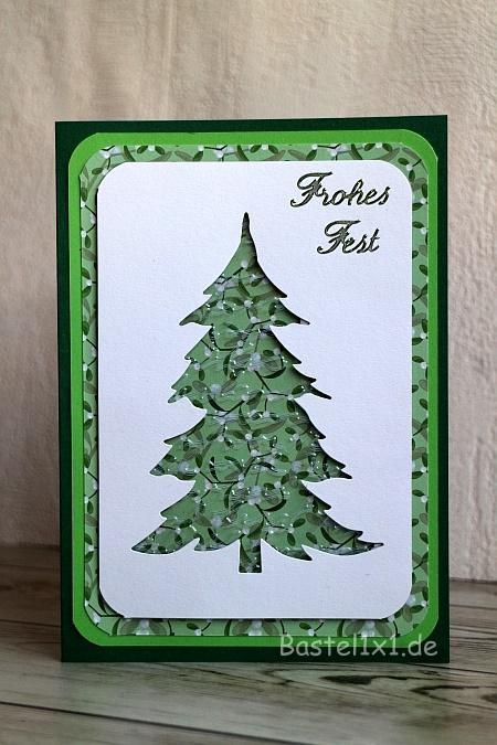 Bastelidee Weihnachtskarte Mit Weihnachtsbaum Basteln