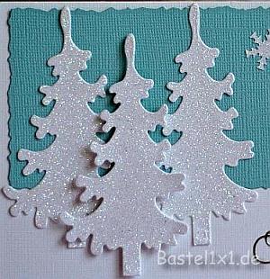 weihnachtskarten basteln winterliche weihnachtskarte. Black Bedroom Furniture Sets. Home Design Ideas