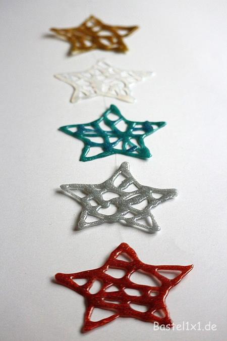 Basteln Für Weihnachten Sterne Aus Heisskleber