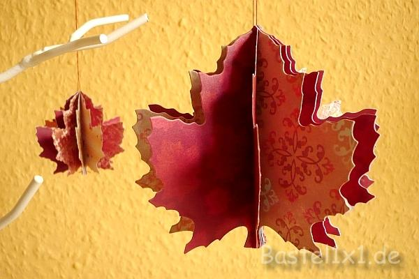 Basteln mit papier herbstbl tter for Bastelideen herbst papier