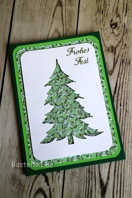 bastelidee weihnachtskarte mit weihnachtsbaum basteln. Black Bedroom Furniture Sets. Home Design Ideas